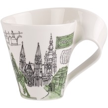 Villeroy & Boch Cities of the World Becher mit Henkel Prag grün