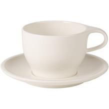 Villeroy & Boch Coffee Passion Cappuccinotasse mit Untertrasse 2tlg. weiß