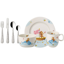 Villeroy & Boch Happy as a Bear Set 7tlg. MIT GRAVUR (z.B. Namen) Teddybär