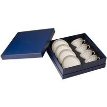 Villeroy & Boch La Classica Contura Teeset 8tlg. weiß,grau,silber/platin