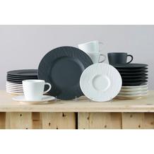Villeroy & Boch Manufacture Rock Kaffeeservice für 12 Personen 36-teilig schwarz und weiß