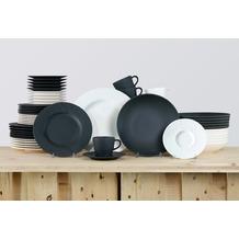 Villeroy & Boch Manufacture Rock Kombiservice für 12 Personen 60-teilig schwarz und weiß