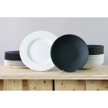 Villeroy & Boch Manufacture Rock Tafelservice für 12 Personen 24-teilig schwarz und weiß