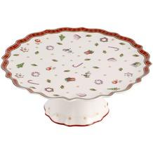 Villeroy & Boch Toy's Delight Kuchenplatte auf Fuß klein weiß,rot