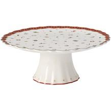 Villeroy & Boch Toy's Delight Kuchenplatte auf Fuß weiß,rot