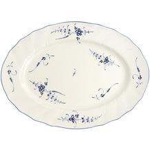 Villeroy & Boch Vieux Luxembourg Platte oval blau,weiß