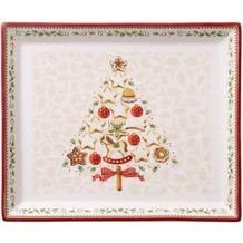 Villeroy & Boch Winter Bakery Delight Gebäckplatte rechteckig, klein weiß,rot,beige