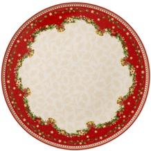 Villeroy & Boch Winter Bakery Delight Kuchenplatte rund Ilex weiß,rot,beige