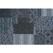 Kelii Patchwork-Teppich Alaska blau 60 cm x 90 cm