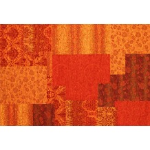 Kelii Patchwork-Teppich Alaska orange 60 cm x 90 cm