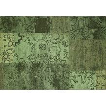 Kelii Patchwork-Teppich Colorado green 140 cm x 200 cm