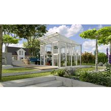 vitavia Gewächshaus Aphrodite Einscheibenglas/Hohlkammerplatte, weiß 7,8 m²