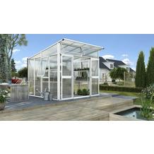 vitavia Gewächshaus Aphrodite Hohlkammerplatte 10mm, weiß 7,8 m²