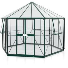 vitavia Gewächshaus Galaxis 9000 Einscheibenglas/Hohlkammerplatte, smaragd
