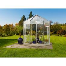 vitavia Gewächshaus Hera 4500 Einscheibenglas/Hohlkammerplatte, weiß