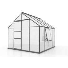 vitavia Gewächshaus Meridian 1 Hohlkammerplatte 6mm, anthrazit 6,7 m²