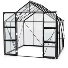 vitavia Gewächshaus Olymp Einscheibenglas 3mm, schwarz 6,7 m²