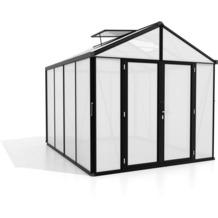 vitavia Gewächshaus Zeus Comfort Hohlkammerplatte 10mm, schwarz 8,1 m²