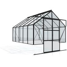 vitavia Gewächshausset Cassandra Einscheibenglas 3mm, schwarz 8,3 m²
