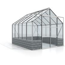 vitavia Gewächshausset Cassandra Einscheibenglas 3mm Sockel, anthrazit 8,3 m²
