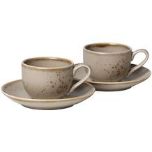 vivo StoneWare Brown Espressotassen Set 4tlg.