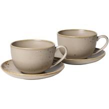 vivo StoneWare Brown Milchkaffeetassen Set 4tlg.