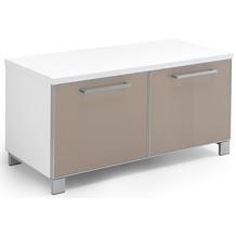 Voss Möbel Garderobenbank Santina/Ventina Lack weiß - taupe