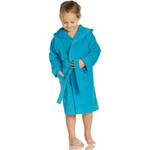 Vossen Velours-Kinderbademantel Texie turquoise 110/116