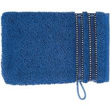 Vossen Cult de Luxe deep blue Waschhandschuh