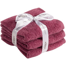 Vossen Frottierserie-Set Smart Towel blackberry 2x Duschtuch à 67x140 cm