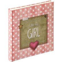 Walther Design Babyalbum Little Baby Girl, 28X30,5 cm, altrosa