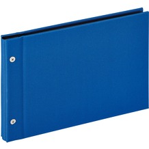 Walther Design Buchschraubenalbum Lino, blau, 27,5X19 cm
