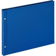 Walther Design Buchschraubenalbum Lino, blau, 39X31 cm