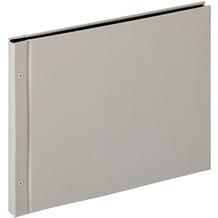 Walther Design Buchschraubenalbum Lino, hellgrau,39X31 cm