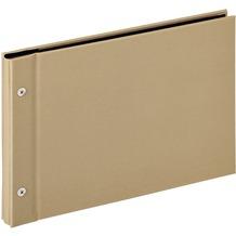 Walther Design Buchschraubenalbum Lino, sand, 27,5X19 cm