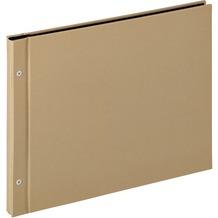 Walther Design Buchschraubenalbum Lino, sand, 39X31 cm