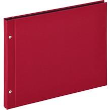 Walther Design Buchschraubenalbum Lino, weinrot, 39X31 cm