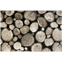 Wecon home Teppich Logs WH-28341-090 schwarz 80x150