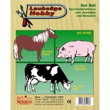 Weico Laubsägevorlage Bauernhof 3er Set