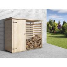 Weka Brennholzlager 663 mit Geräteraum
