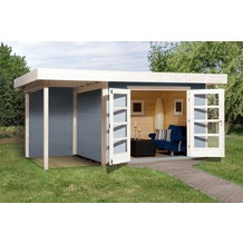 Weka Designhaus 126 A Gr.2, grau, 28 mm, DT, Anbau 150 cm, ohne RW