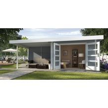 Weka Designhaus 126 B Gr.1, grau, 28 mm, DT, Anbau 300 cm, ohne RW