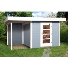 Weka Designhaus 172 A Gr.2, grau, 28 mm, ET, Anbau 150 cm ohne RW