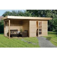 Weka Designhaus 172 B Gr.2, natur, 28 mm, ET, Anbau 300 cm, ohne RW