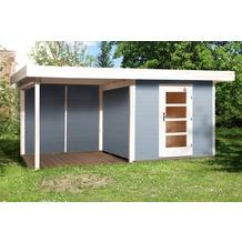 Weka Designhaus 172 B Gr.1, grau, 28 mm, ET, Anbau 300 cm, ohne RW