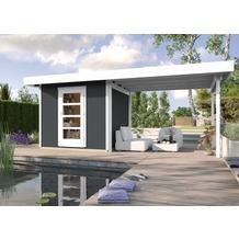 Weka Designhaus wekaLine 172 B Gr.3, anthrazit, ET, Anbau 300 cm