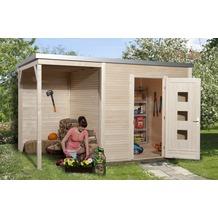 Weka Designhaus wekaLine 413 B Gr.1, natur, 45 mm, ET, Anbau 300 cm