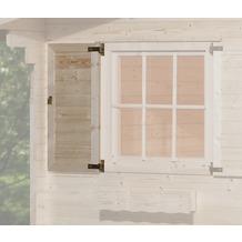 Weka Fensterladen 1-seitig für Fenster 91x91cm