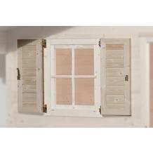 Weka Fensterladen 2-seitig für Fenster 69x79cm