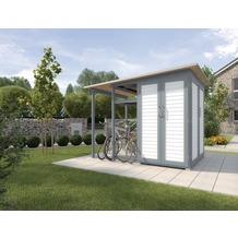 Weka Garten [Q] Modul Family, seitlicher Anbau offen, grau/weiß